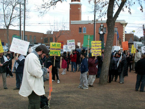 Over 150 people turned out in Edmonton to show their support.